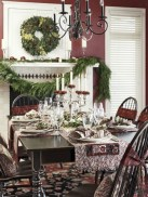 Stylish silver and white christmas table centerpieces ideas 32