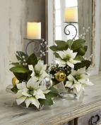 Totally adorable white christmas floral centerpieces ideas 03