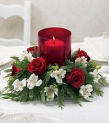 Totally adorable white christmas floral centerpieces ideas 04