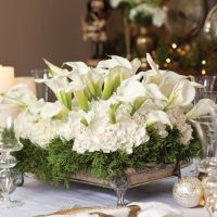 46 Totally Adorable White Christmas Floral Centerpieces Ideas