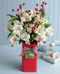 Totally adorable white christmas floral centerpieces ideas 18