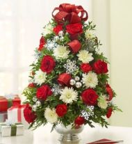 Totally adorable white christmas floral centerpieces ideas 22