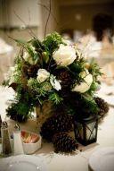 Totally adorable white christmas floral centerpieces ideas 28