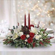 Totally adorable white christmas floral centerpieces ideas 29