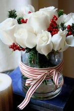 Totally adorable white christmas floral centerpieces ideas 30
