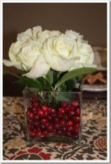 Totally adorable white christmas floral centerpieces ideas 44