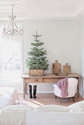Totally inspiring small christmas tree decoration ideas for space saving 43