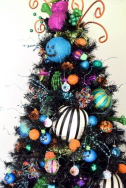 Unusual black christmas tree decoration ideas 05