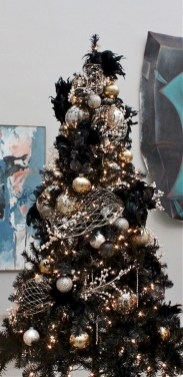 Unusual black christmas tree decoration ideas 06