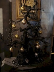 Unusual black christmas tree decoration ideas 16