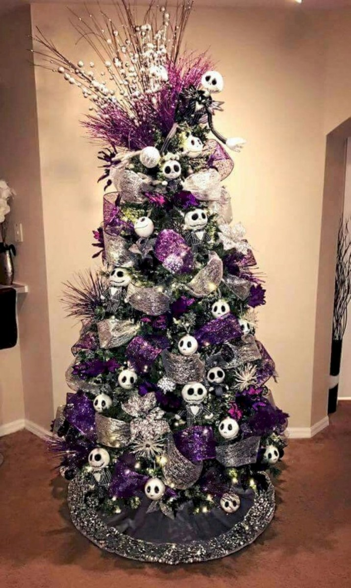 unusual black christmas tree decoration ideas 26