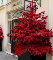 Unusual black christmas tree decoration ideas 30