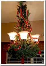 Adorable christmas chandelier decoration ideas 25