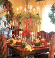 Adorable christmas chandelier decoration ideas 26