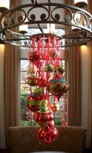 Adorable christmas chandelier decoration ideas 35
