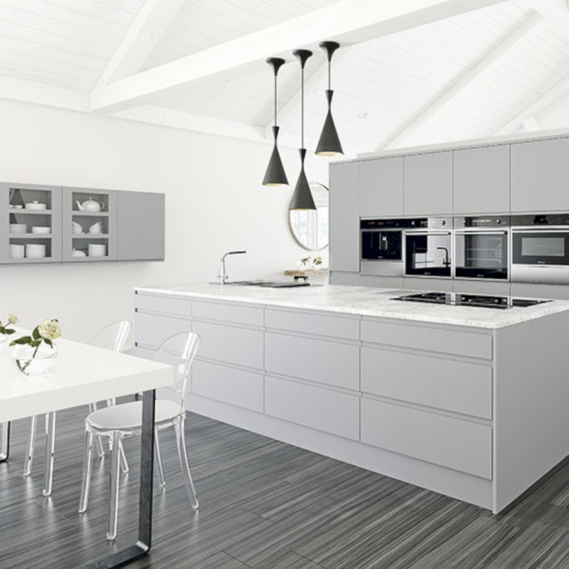 Adorable grey and white kitchens design ideas 03
