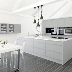 Adorable grey and white kitchens design ideas 03