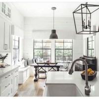 Adorable grey and white kitchens design ideas 13