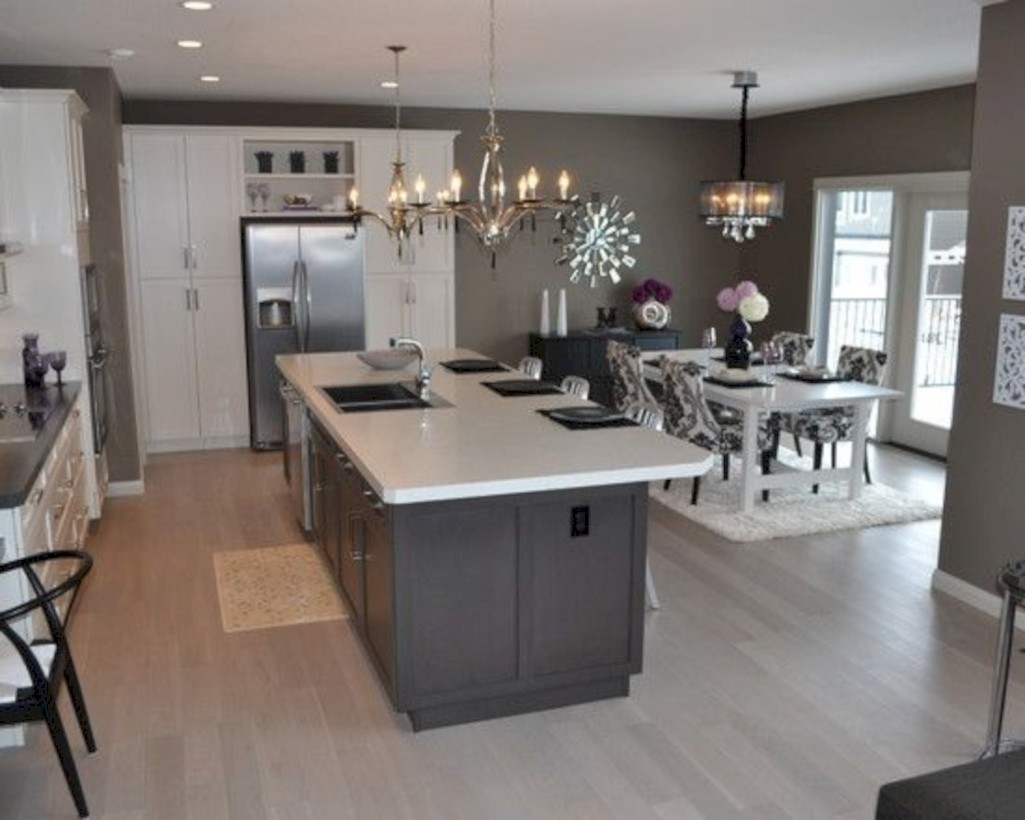 Adorable grey and white kitchens design ideas 16