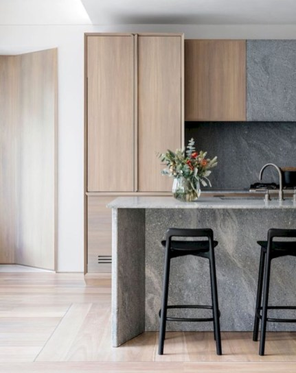 Adorable grey and white kitchens design ideas 25