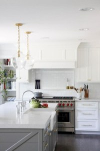 Adorable grey and white kitchens design ideas 30
