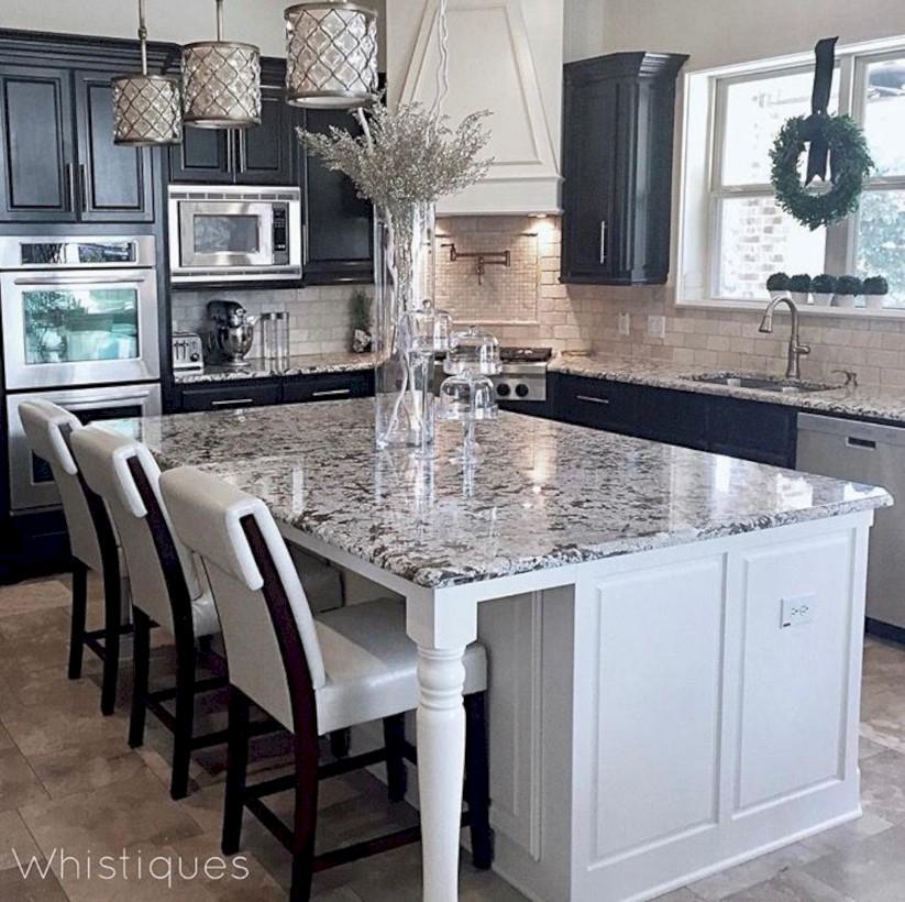 Adorable grey and white kitchens design ideas 35