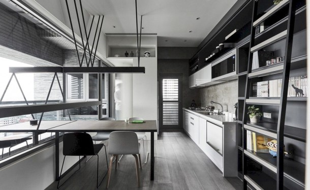 Adorable grey and white kitchens design ideas 38
