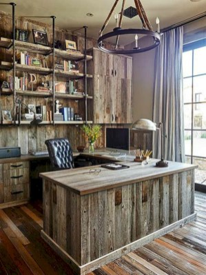 Awesome rustic home office designs ideas 02