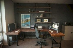 Awesome rustic home office designs ideas 07