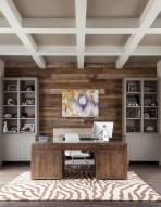 Awesome rustic home office designs ideas 11