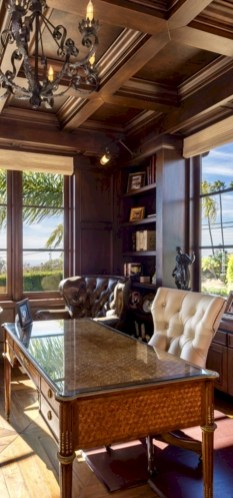 Awesome rustic home office designs ideas 16