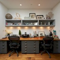 Awesome rustic home office designs ideas 22