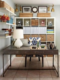 Awesome rustic home office designs ideas 28