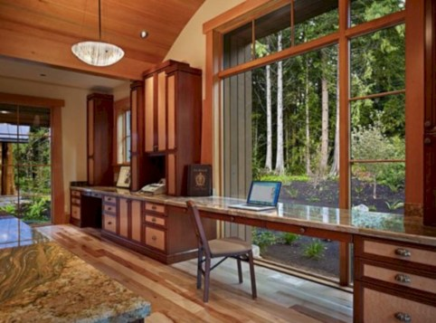 Awesome rustic home office designs ideas 31