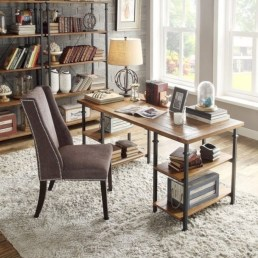 Awesome rustic home office designs ideas 44