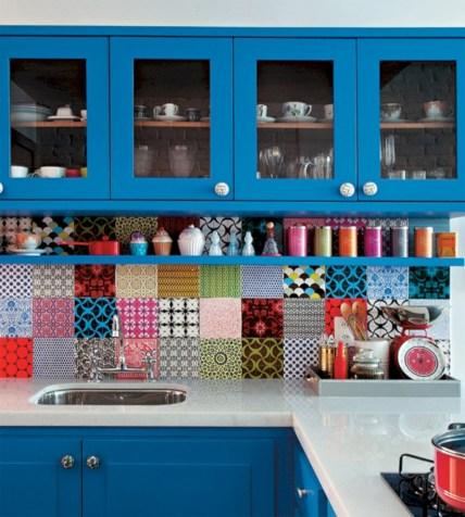 bright and colorful kitchen design ideas 09 - Colorful Kitchen Ideas