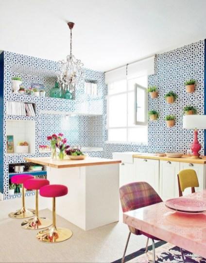 Bright and colorful kitchen design ideas 20