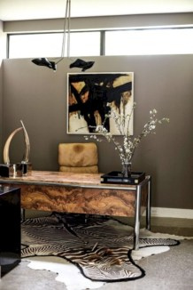 Charming vintage home office decoration ideas 08