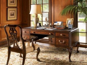 Charming vintage home office decoration ideas 10
