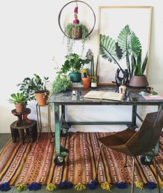 Charming vintage home office decoration ideas 35