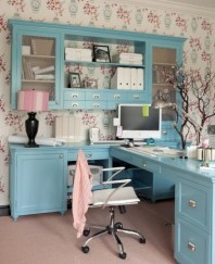 Charming vintage home office decoration ideas 39