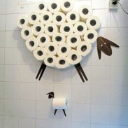 Cool and unique toilet tissue paper roll holders ideas 28