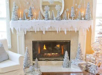 Cool christmas fireplace mantel decoration ideas 02