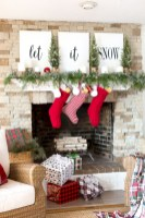 Cool christmas fireplace mantel decoration ideas 04