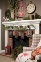 Cool christmas fireplace mantel decoration ideas 20