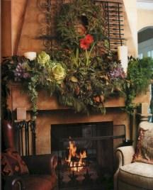 Cool christmas fireplace mantel decoration ideas 28
