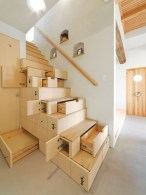 Cool space saving staircase designs ideas 14