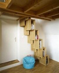 Cool space saving staircase designs ideas 21