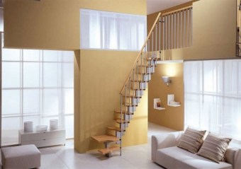 Cool space saving staircase designs ideas 33