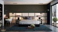 Cozy bedrooms design ideas with brilliant accent walls 04